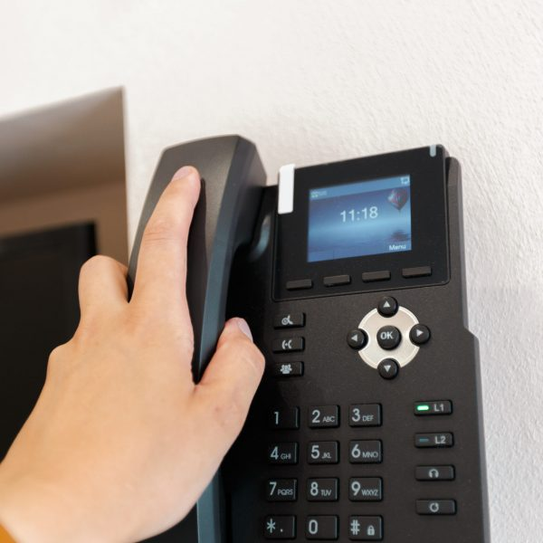 Hotel phone, close up
